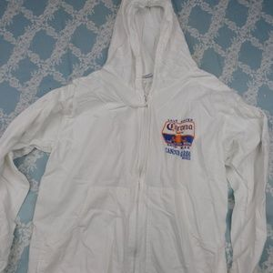 Other - Cancun Corona White Thin Windbreake Hoodie Size 40